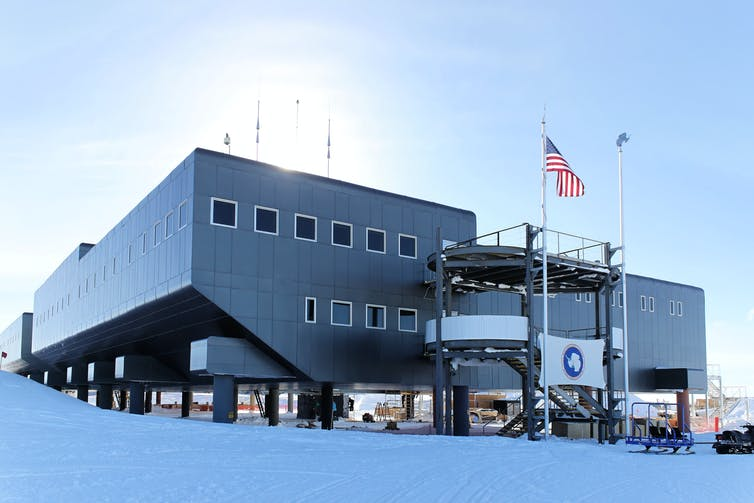 The Amundsen–Scott South Pole Station, is a US scientific research station at the South Pole.