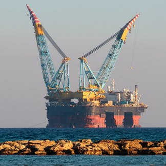 b9ea33fe4e1 A rig off the coast of Cyprus explores the region's gas potential.  Shutterstock