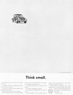 Image of a VW Beetle ad