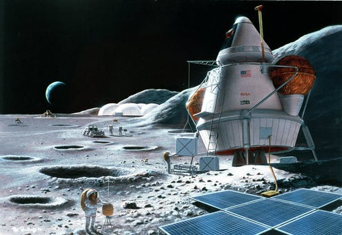 Artist's impression of a lunar base.