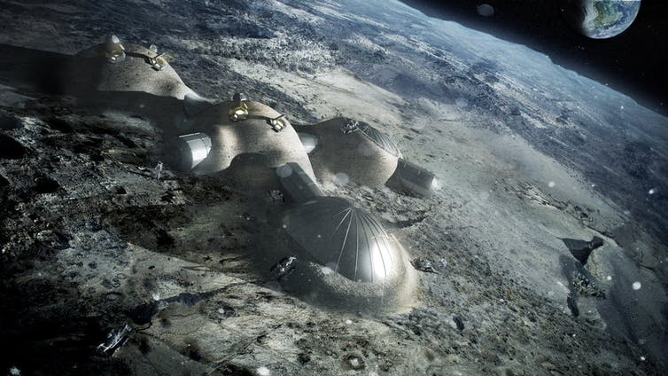 Moon base - Artist impression