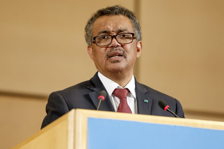 WHO chief, Tedros Adhanom Ghebreyesus