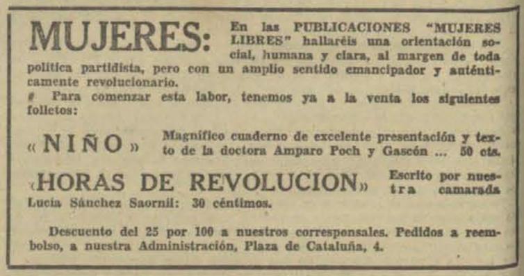 Amparo Poch y Gascón, la médica que enseñó educación sanitaria y sexual a las