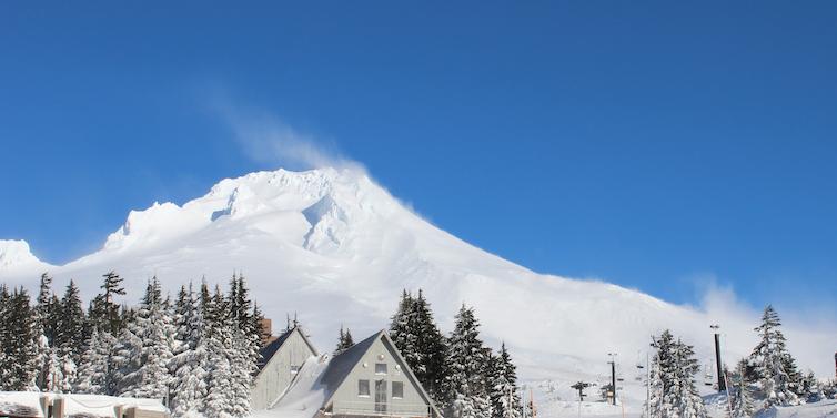 A valuable resource: Snowpack on Oregon's Mt. Hood. Source: USDA NRCS/Spencer Miller, CC BY