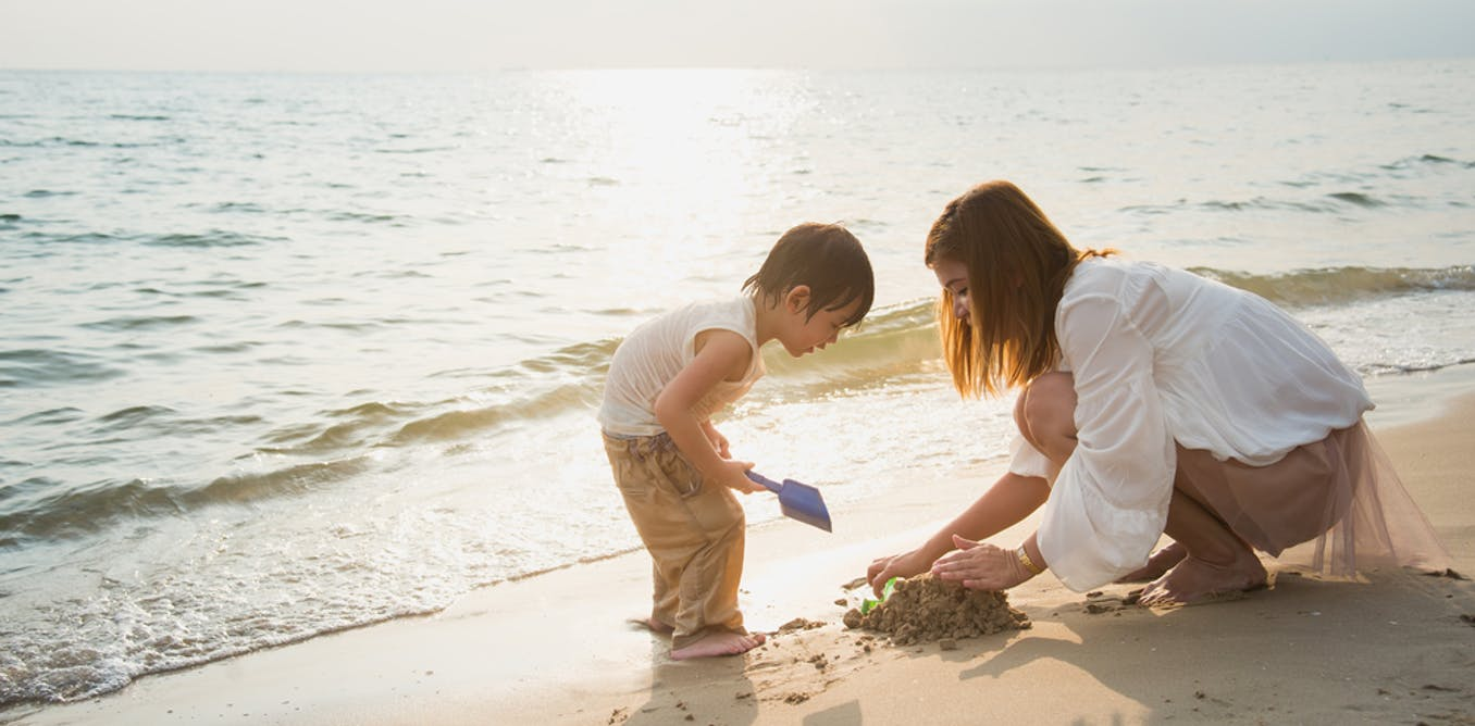 A day at the beach: Deep learning for a child
