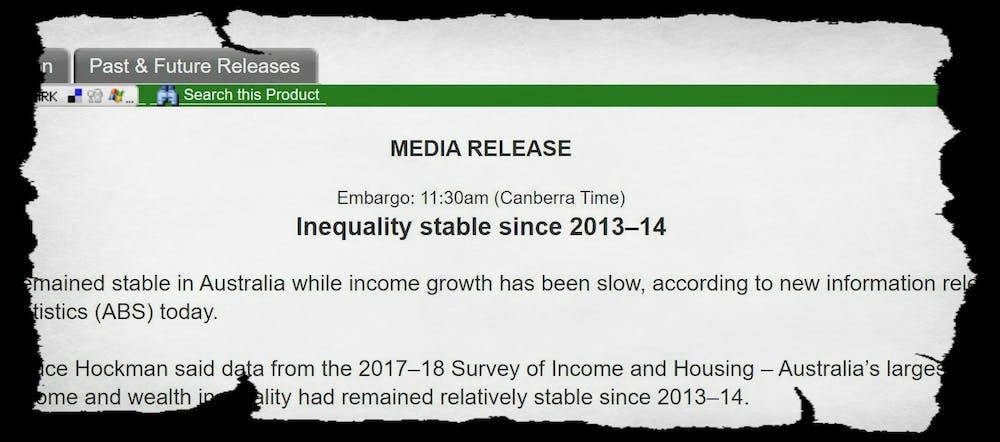 What the Bureau of Statistics didn't highlight: The rich