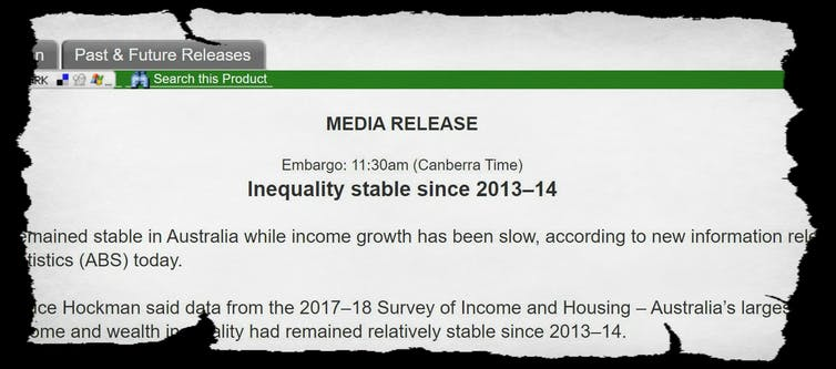 Another official Australian report has been doctored to gloss over rising inequality