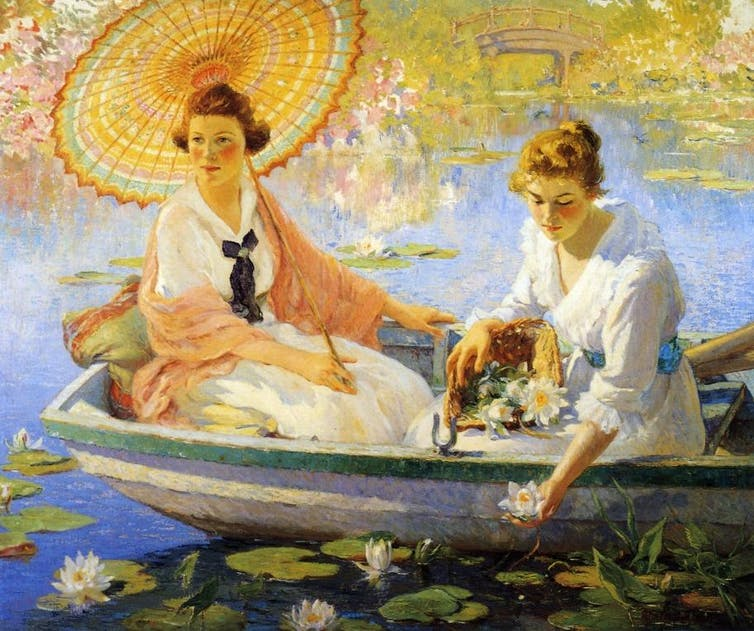 Colin Campbell Cooper's 1918 painting 'Summer.' The Athenaeum