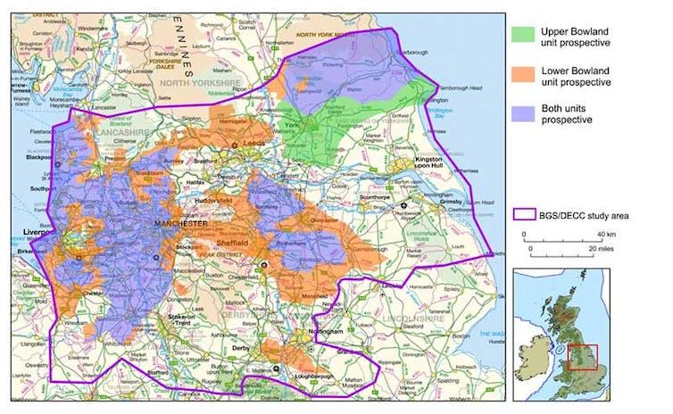 shale gas map england