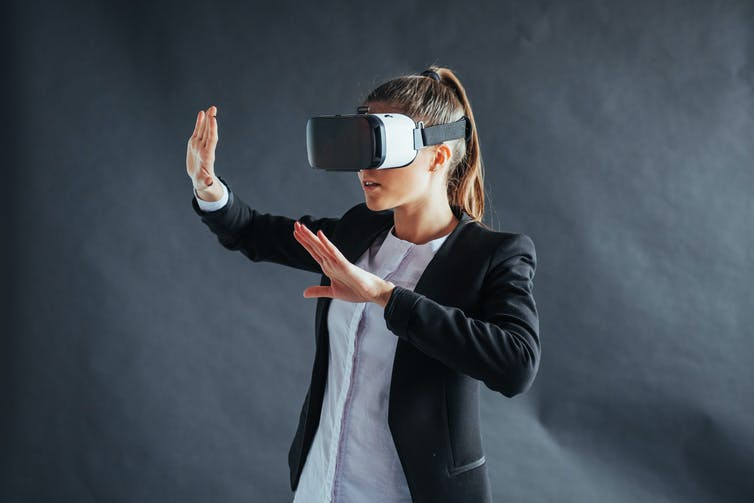 In the experiment, people were asked to wear virtual reality headsets to make a moral decision within a simulation.  Standret/Shutterstock