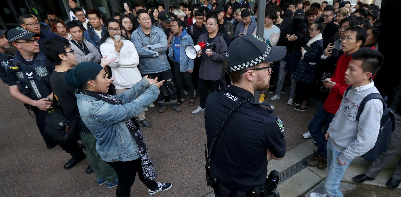 Why Chinese and Hong Kong students clash in Australia: the patriotic v the protest movement