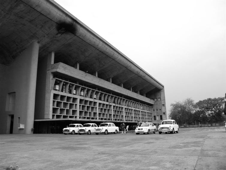 Palace of Justice Corbu Chandigarh India Le Corbusier