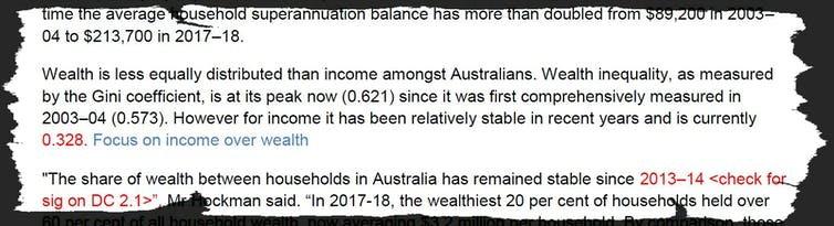 It's not just the ABS. It's also the Productivity Commission downplaying the growth in inequality