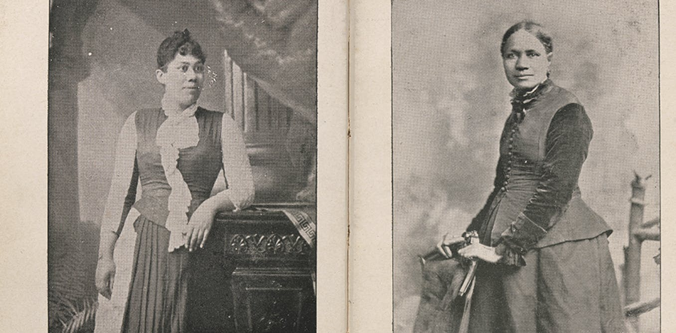 The hidden story of two African American women looking out from the pages of a 19th-century book