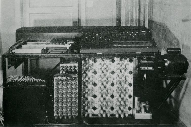 Part of the first modern electronic digital computer: the Atanasoff–Berry computer.