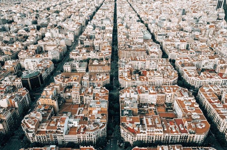 barcelona urban grid