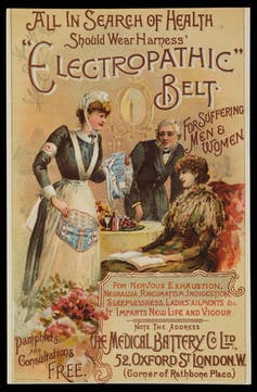 Therapeutic belts which supposedly cured a number of ailments, including sleeplessness. Wellcome Collection, CC BY