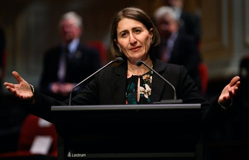 NSW Premier Gladys Berejiklian avoids a spill but remains in troubled waters
