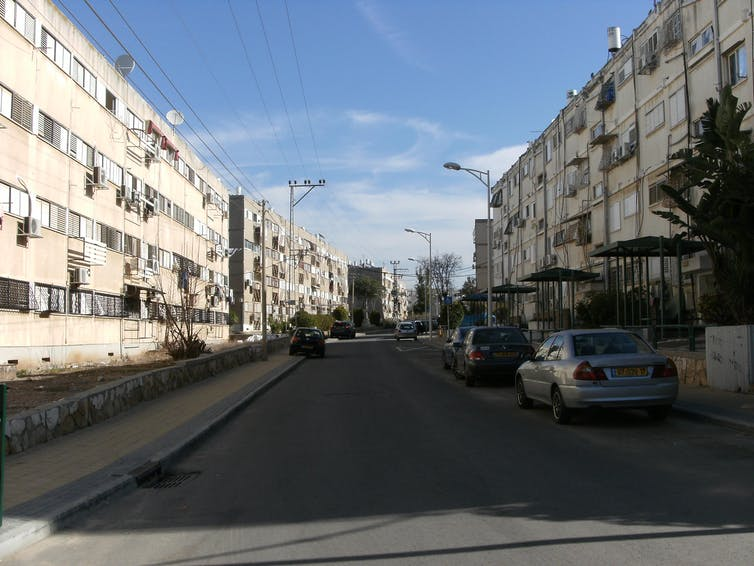 Logements de type HLM à Kiryat Gat (2015). Photo prise par l'auteure