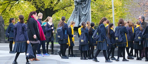 Five charts on Catholic school enrolments: they're trending down while Australia's population booms