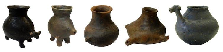 Feeding vessels of the late Bronze and early Iron Ages from Znojmo (Czech Republic), Harting (Bavaria, Germany), Franzhausen-Kokoron (Austria), Batina (Croatia) and Statzendorf (Austria), c. 1200-600 BC. | Katharina Rebay-Salisbury | Author provided