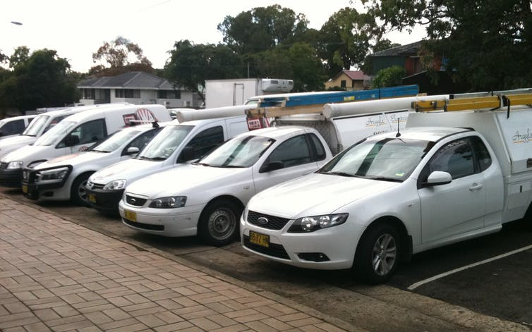 Don't blame parcel delivery vans for clogging up city traffic, look to the tradies