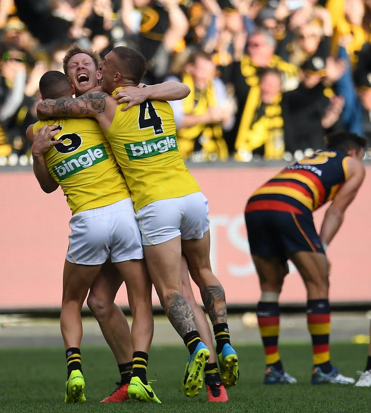 Playing without fear of the outcome: a psychologist tells us what we can learn from the success of the Richmond Tigers