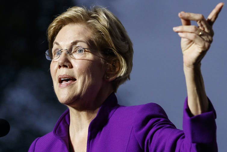 Warren placed second after Biden, as Trump's ratings rise. But could the impeachment scandal make a difference?