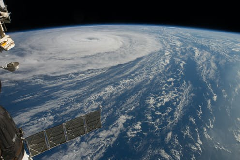 Crew at the International Space Station capture Typhoon Noru.