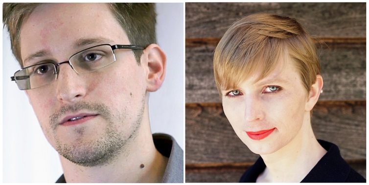 Edward Snowden and Chelsea Manning