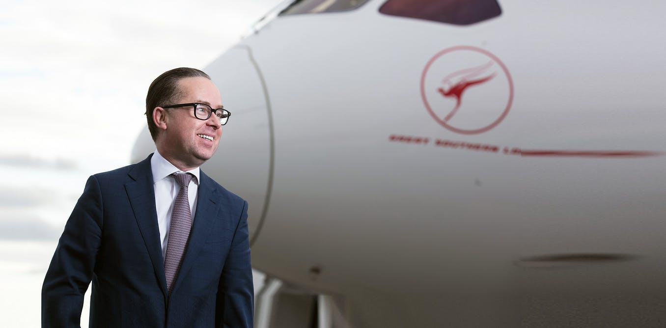 Painting Qantas chief executive Alan Joyce as a superhero is part of a long Australian tradition
