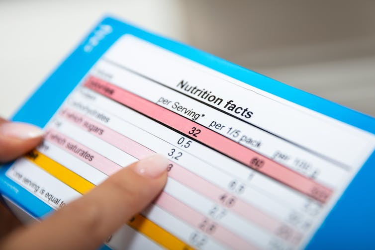 No, serving sizes on food labels don't tell us how much we should eat