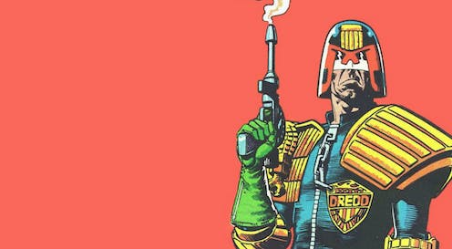 Who is Judge Dredd and why it matters that media invoke the cartoon character