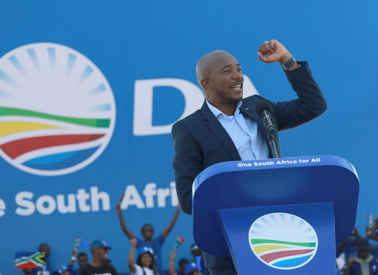 Mmusi Maimane, leader of South Africa's main opposition party, the Democratic Alliance. EFE-EPA/Kim Ludbrook