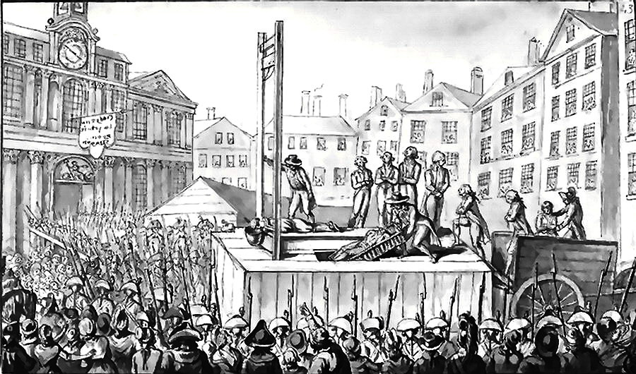 Framed Print History of Men Beheaded by the Guillotine Picture Death Penalty