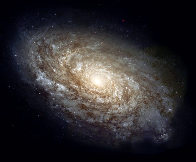 An image of the spiral galaxy NGC 4414, taken by the Hubble Space Telescope.