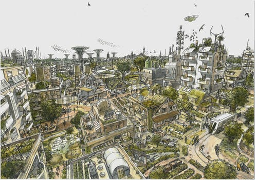 Image result for the conversation: Extinction Rebellion's car-free streets showcase the possibility of a beautiful, safe and green future