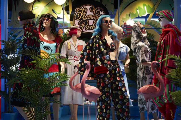 Step into Paradise review: from koala jumpers to the Sydney Olympics, Jenny Kee and Linda Jackson defined Australian fashion