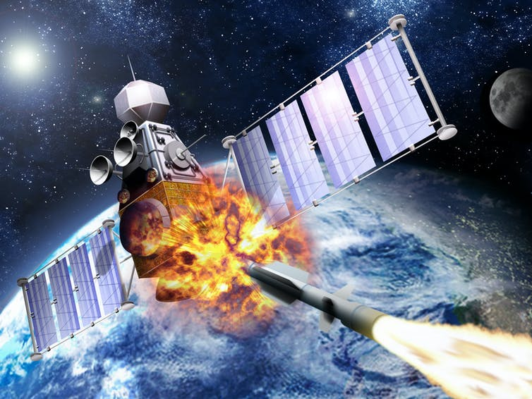 outer space weapons simulation