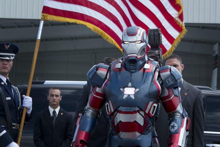 Comic book hero: Zade Rosenthal as Iron Man