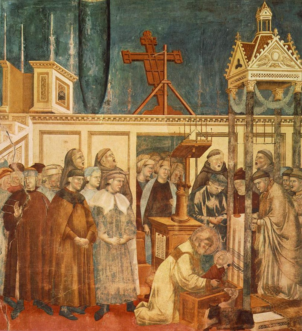 How St. Francis created the Nativity scene, with a miraculous event in 1223