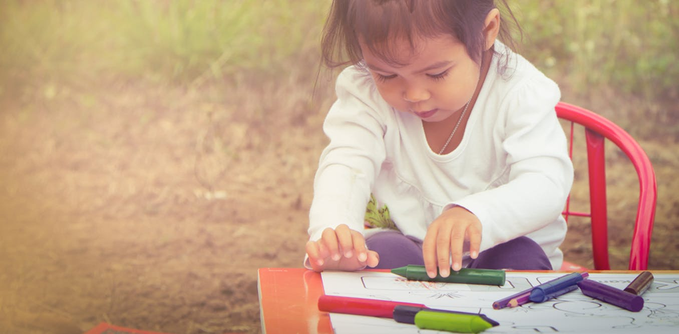 Writing and reading starts with children's hands-on play