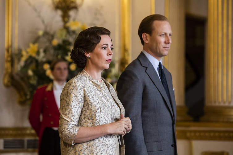Olivia Colman shines as an older, frumpier Elizabeth