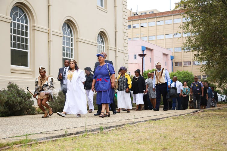 An ancestral blessing ceremony was part of the restorative justice process. Je'nine May/UCT