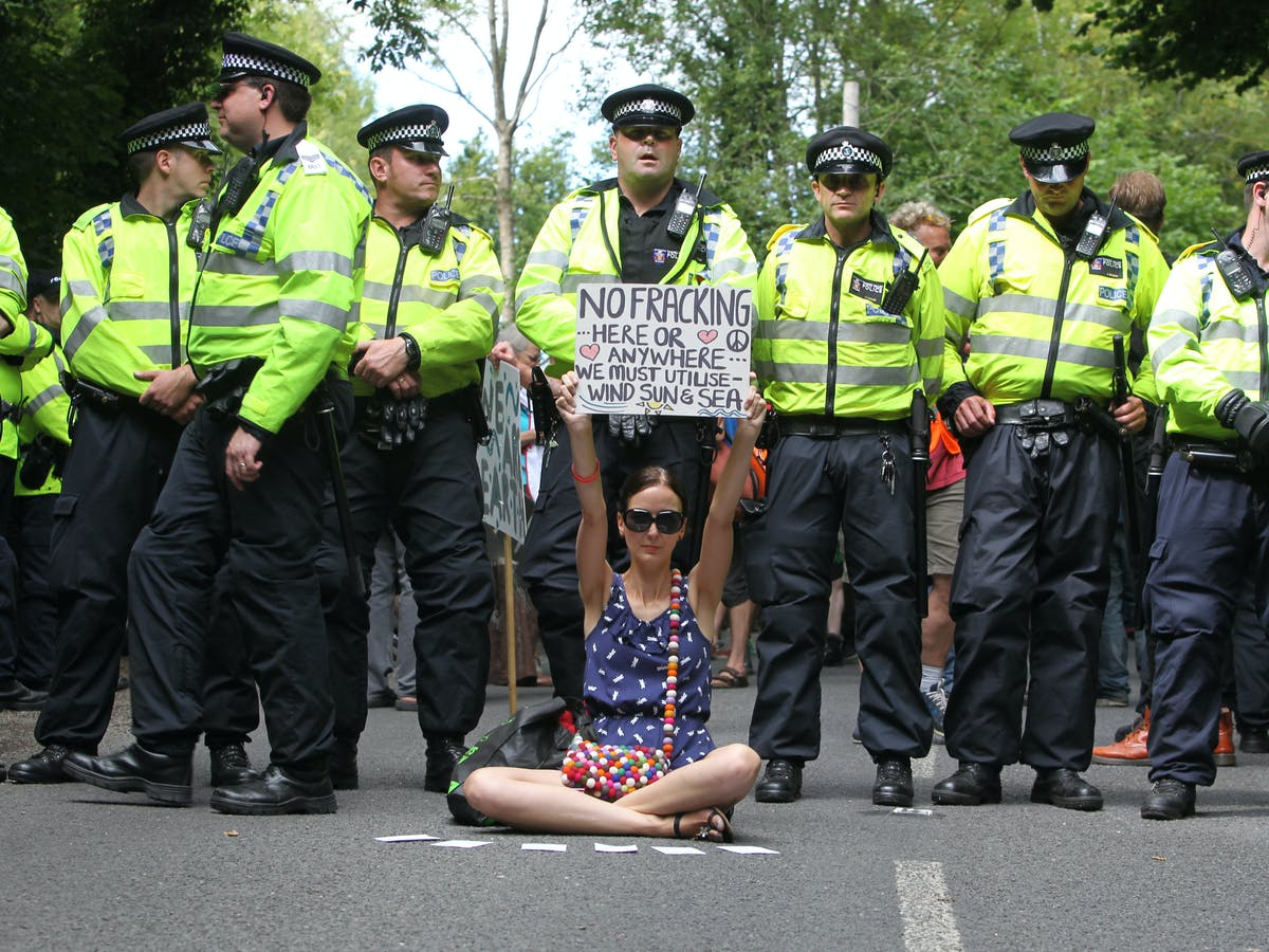 Fracking: how the police response is threatening the right to protest