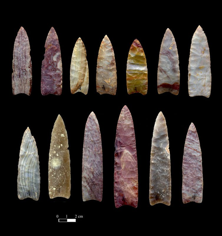 13,000-year-old spear points from Colorado