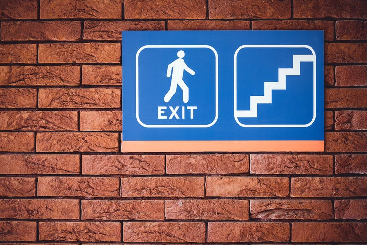 Stop the world, I want to get off! In Exit Strategies, one woman leaves and leaves again