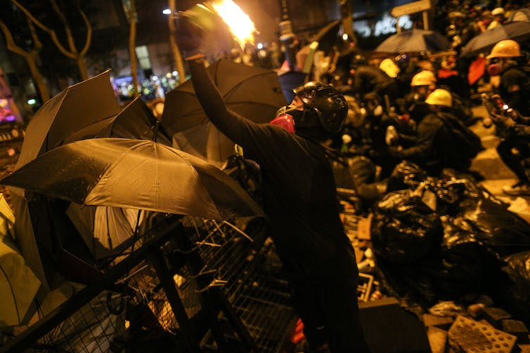 a dangerous new phase for the Hong Kong protests