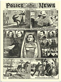 Police News Illustration from 1888