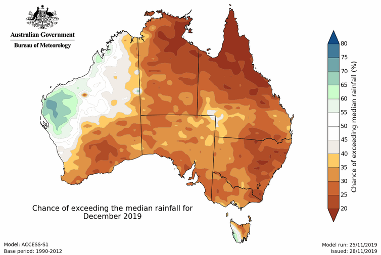 A hot and dry Australian summer means heatwaves and fire risk ahead